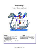 Click to download Dinosaur crossword puzzle