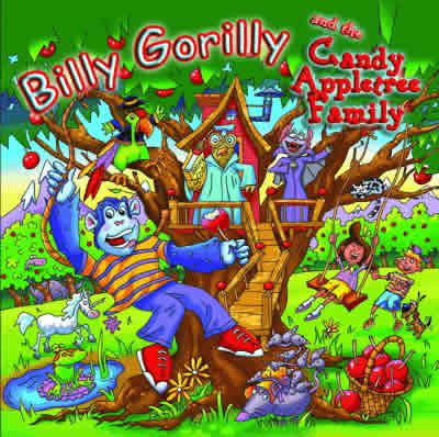 Click to listen and buy Billy Gorilly and the Candy Appletree Family audio CD for Kids