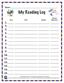 image regarding Printable Reading Logs With Parent Signature named My Looking through Log