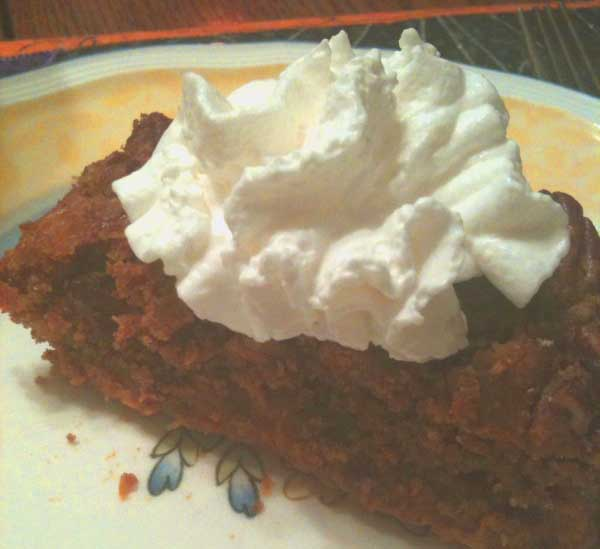 Click image to download and print pumpkin cake recipe