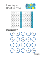 thumbnail counting by fives worksheet