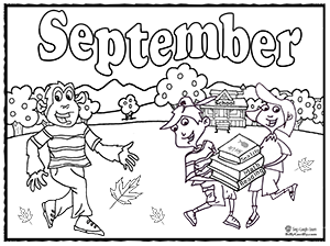 Free Months Of The Year Coloring Pages, Download Free Clip Art ... | 224x300