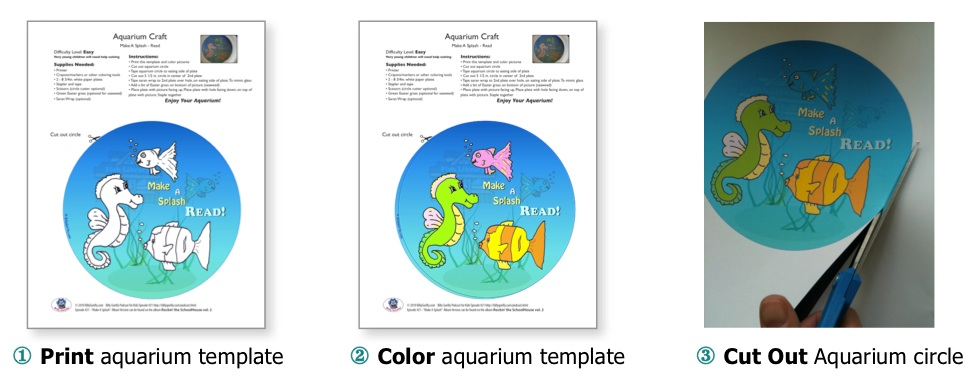 SLP Make A Splash—READ •aquarium craft for kids• | Sing Laugh Learn