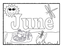 Free Printable Coloring Pages For June