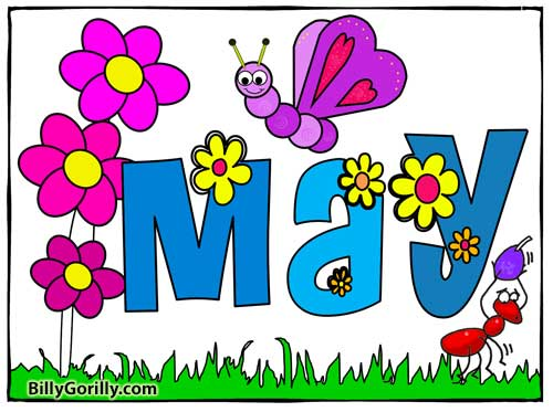 May Coloring Page and Months of the Year Song | Sing Laugh Learn