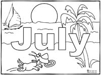July Coloring Page Sing Laugh Learn