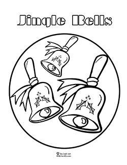 click to print jingle bells coloring page
