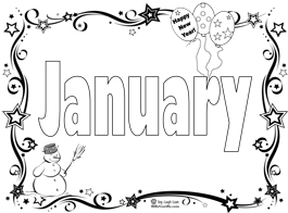 Start The New Year With A January Coloring Page Song January Coloring Page