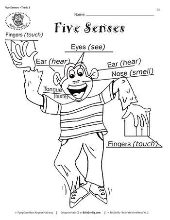 Five Senses Coloring Page