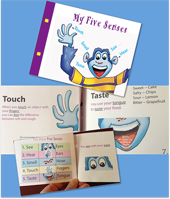 Five Senses mini-book template images