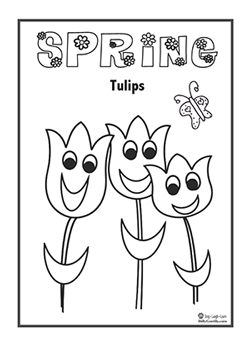 SpringTulips with Happy Faces