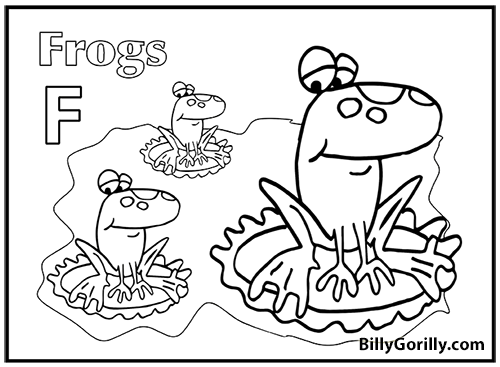 Thumbnail of Frogs Coloring Page