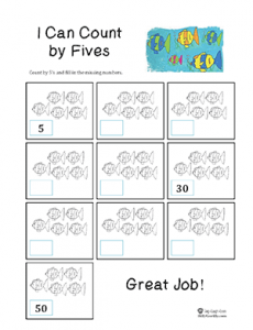 Five Little Fishies worksheet