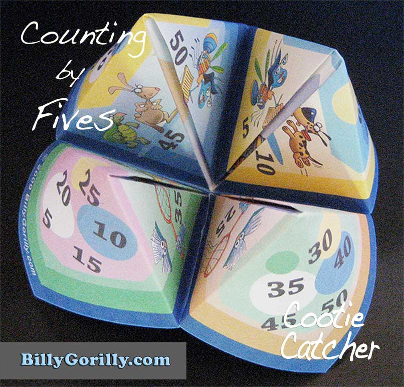 Counting by Fives Cootie Catcher