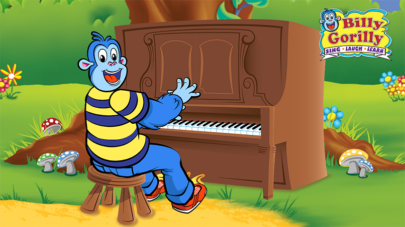 Billy Gorilly Playing the Piano