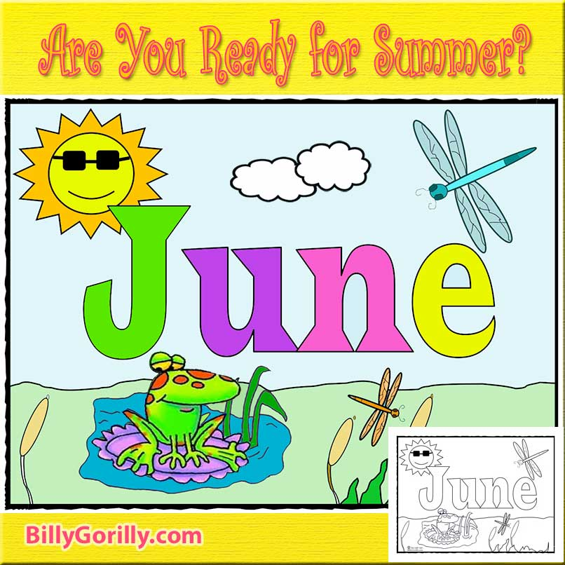 Download and Print Coloring Page for June
