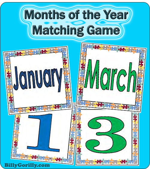 Months of the Year Memory Game