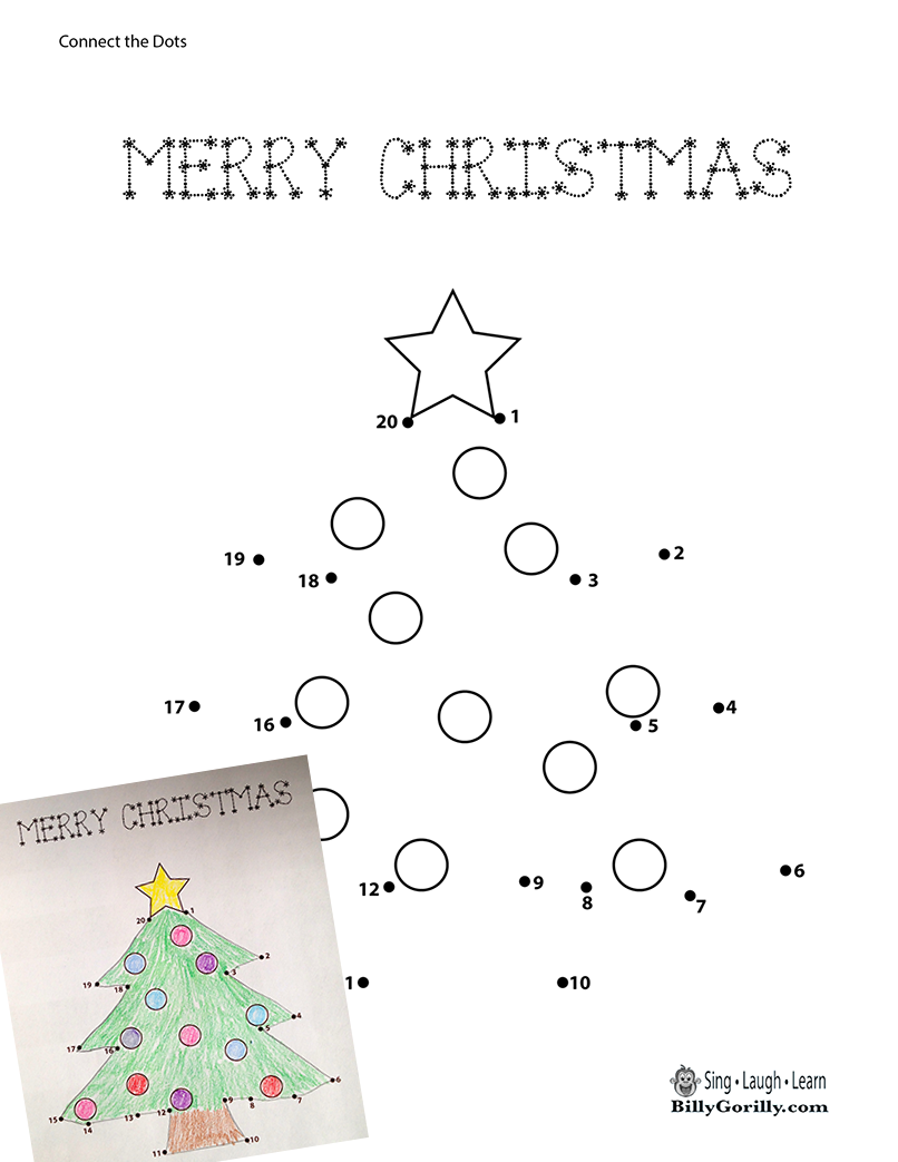 Printable Christmas Tree Dot-to-Dot