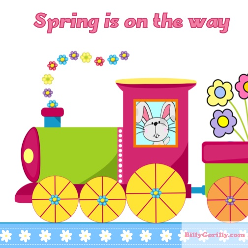 Easter Train Popup Card Craft