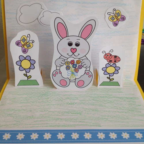 Popup Easter Card Template