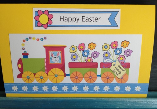 Easter Train Popup Card Template
