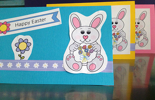 Kids DIY Popup Easter Card Craft