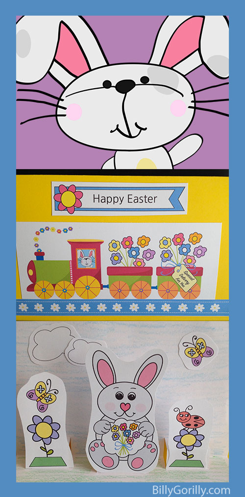 Easter Popup Card Template For Kids To Make