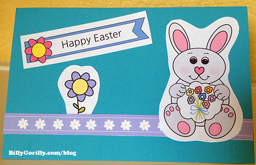 Easter Popup Card Craft for Kids to Make