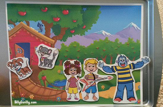 Billy Gorilly and Friends Magnetic Cookie Sheet Activity Board