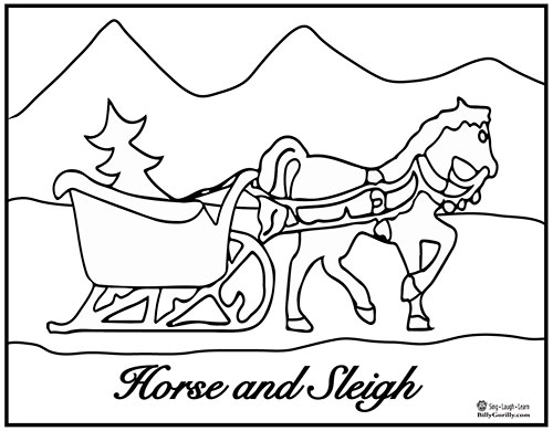 holiday horse coloring pages - photo#16