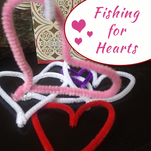 Fishing For Hearts - DIY game for kids