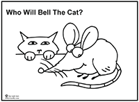 Click to download Cat and Mouse coloring page