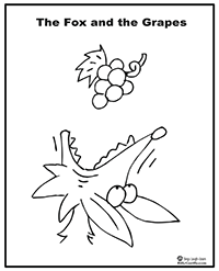 Fox and the Grapes coloring page