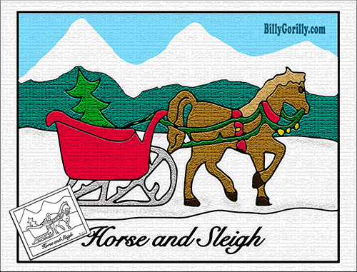 horse and sleigh coloring page