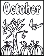 October coloring page