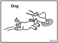 Click to download Skip the Dog coloring page